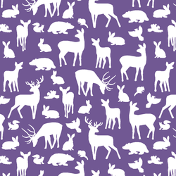 Forest Friends in Ultra Violet