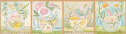 Tea with Bunny Panel in Multi