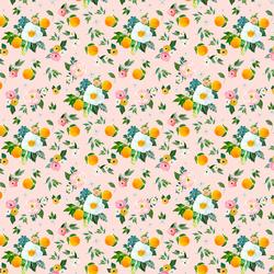 Small Orange Blossoms in Sunrise Pink