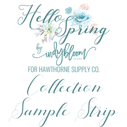 Hello Spring Sample Strip