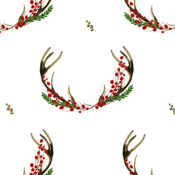 Holiday Horns in White