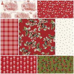 Yuletide Fat Quarter Bundle in Red