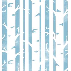 Big Birches in Breeze