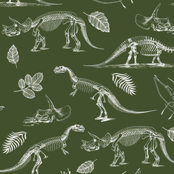 Fossils in Olive Green