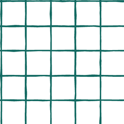 Windowpane in Emerald on White