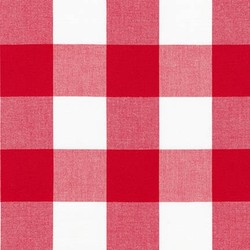 Two Inch Carolina Gingham Yarn Dyed in Crimson