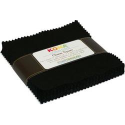 """Kona Solid 5"""" Square Pack in Black"""