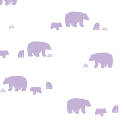 Bear Silhouette in Lilac