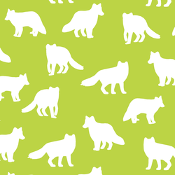 Fox Silhouette in Lime