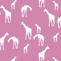 Giraffe Silhouette in Wisteria