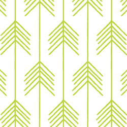 Vanes in Lime on White