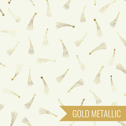 Shooting Stars in Ivory Metallic