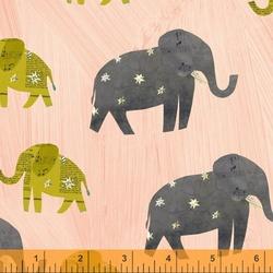 Starry Elephants in Millennial Pink