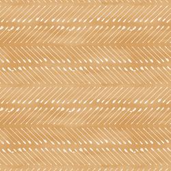 Chevron Arrows in White on Golden Mustard Wash