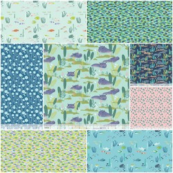 Congo Hippos Fat Quarter Bundle