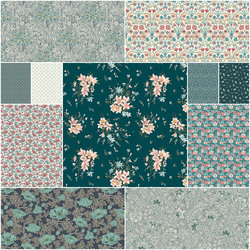 The Winterbourne Collection Fat Quarter Bundle in Tranquil