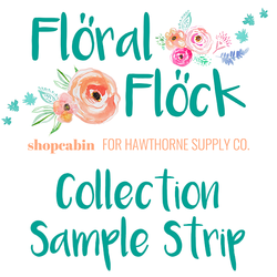 Floral Flock Sample Strip