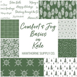 Comfort and Joy Basics Fat Quarter Bundle in Kale
