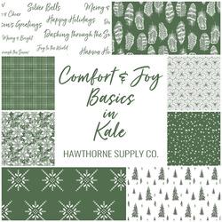 Comfort and Joy Basics Fat Quarter Bundle in Kale