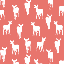 Fawn Silhouette in Living Coral