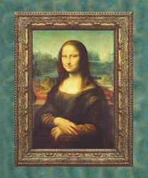 Mona Lisa Panel in Antique