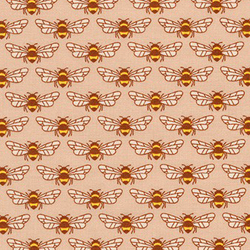 Bees in Peach