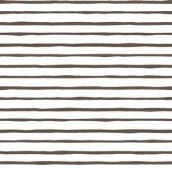Artisan Stripe in Timber on White
