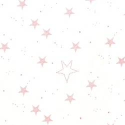 Lucky Stars Flannel in Pink