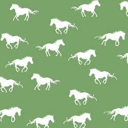 Horse Silhouette in Pistachio