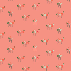 Daisy Button Buds in Coral
