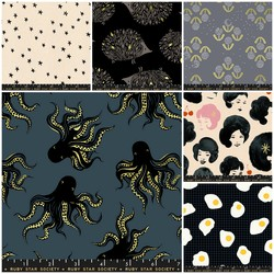 Darlings Fat Quarter Bundle in Black