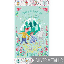 Dorothy's Journey Home Panel in Mint Metallic Sparkle