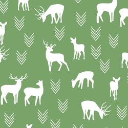 Deer Silhouette in Pistachio