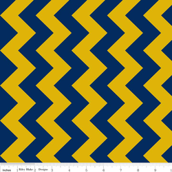Medium Chevron in Blue and Gold
