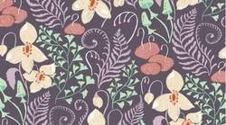 Woodland Floral in Violet