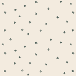 Squiggle Dots in Dark Duck Green on Egret