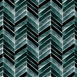 Painted Chevron in Deep Blue Green