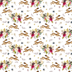 Small Autumn Bunnies in White