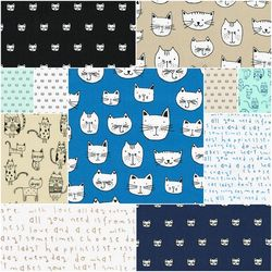 Whiskers and Tails Fat Quarter Bundle