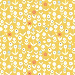 Pom Pom Flowers in Marigold