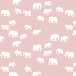 Elephant Silhouette in Blush
