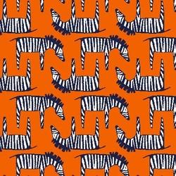 Zig Zag Zebra in Orange