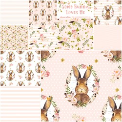 Some Bunny Loves Me Fat Quarter Bundle in Pale Peach