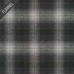 Mammoth Ombre Check Flannel in Charcoal