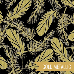 Feathers in Gold on Black