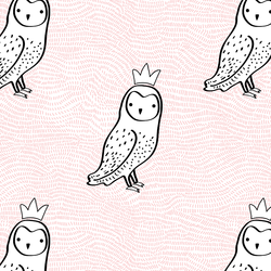 Crowned Owl in Sweet Pink