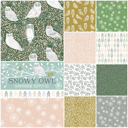 Snowy Owl Fat Quarter Bundle in Evening Sun