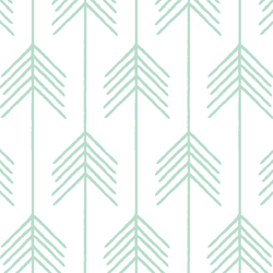 Vanes in Mint on White