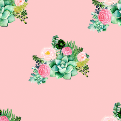 Floral Succulents in Pink Kiss