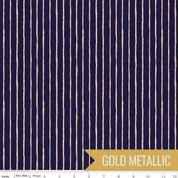 Stripes in Navy Sparkle